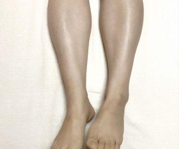 前から撮影した脚の歪み