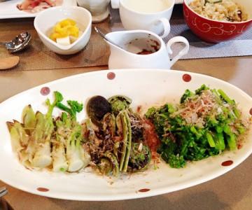苦みのある春野菜を使った酵素たっぷりのお料理