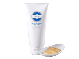 オリエンタルな香りで細やかな塩の粒が古い角質をケア。すっきりとしたボディに整えるボディマッサージジェル。発汗や血行を促しむくみを解消させ、引き締まったボディに導いてくれます